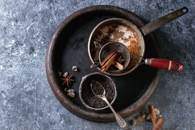 ingredientes para preparar masala chai