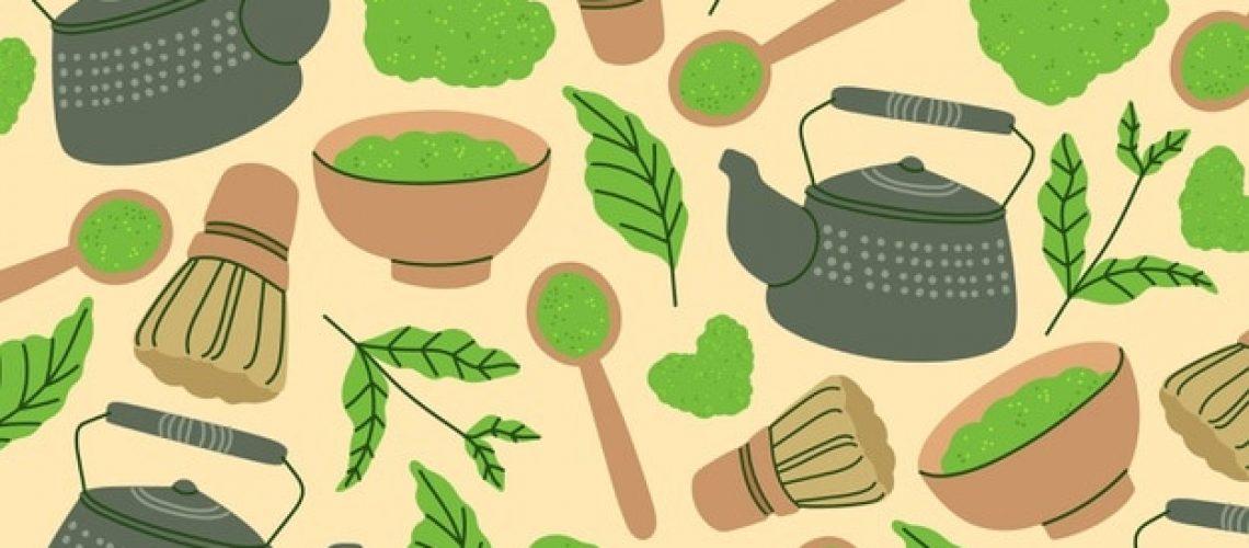 Portada recetas con té matcha