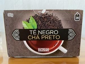 Caja de té negro Mercadona